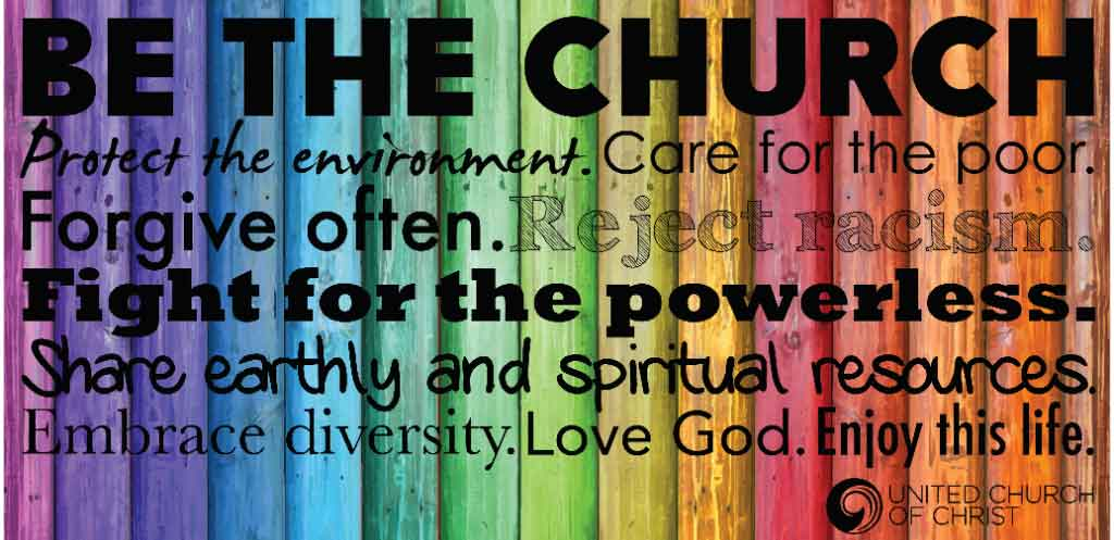 Be the Church graphic for an open minded church in St Louis