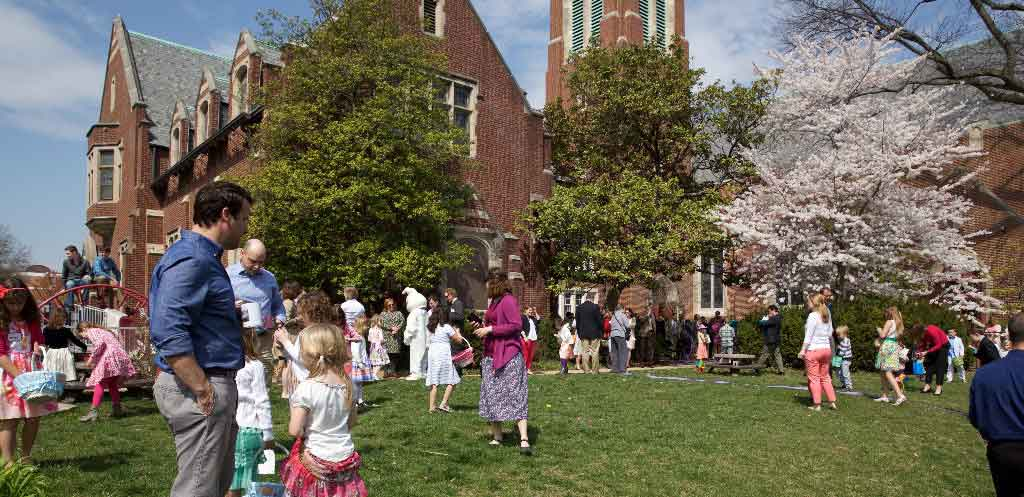 A family friendly church in St Louis; our Easter service goes outside with an egghunt!